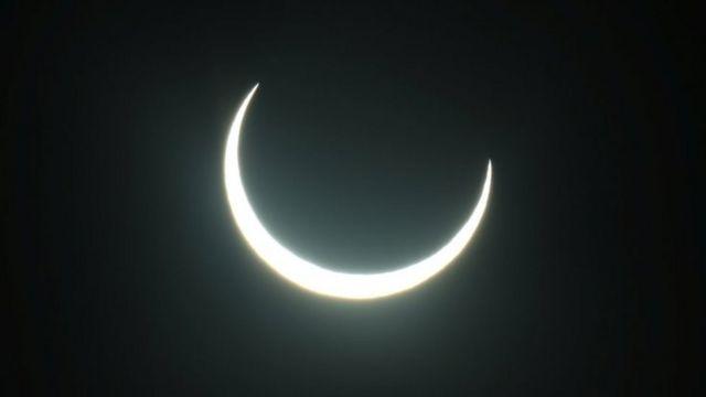 यूएईबाट सूर्य ग्रहण यस्तो देखिएको थियो