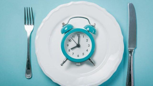 Reloj sobre un plato