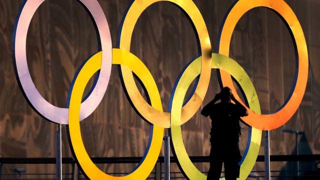Símbolo olímpico no Rio