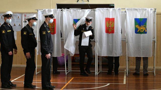 На избирательном участке во Владивостоке