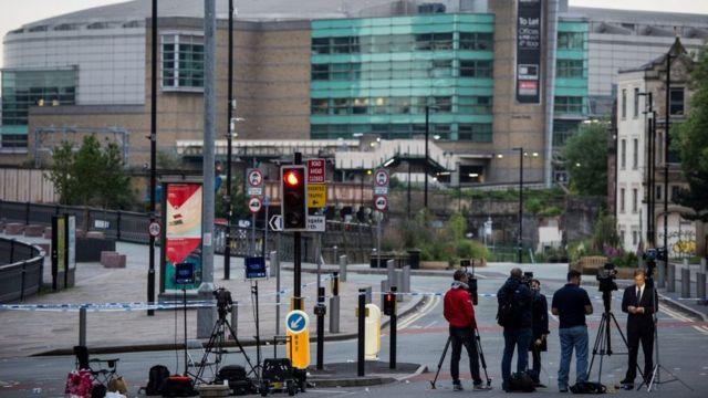 Cámaras en Manchester Arena después del ataque