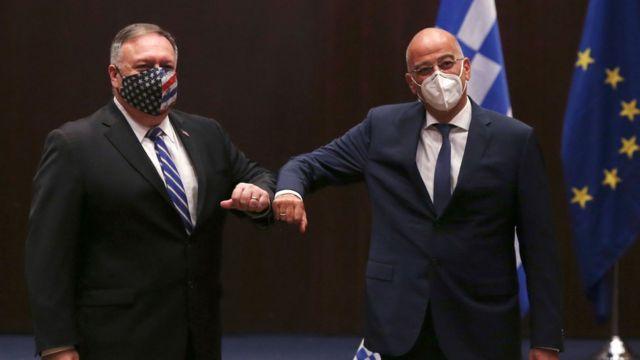 ABD Dışişleri Bakanı Pompeo Yunanistan'da: 'Amaç Ankara ve Atina arasında olası kazaları önlemek' - BBC News Türkçe