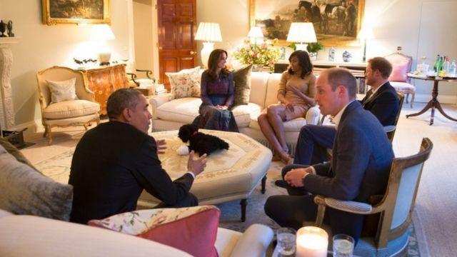 Barack na Michelle Obama mu ngoro ya Kensington