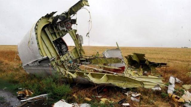 """Обломок разрушенного """"Боинга"""" МН17"""