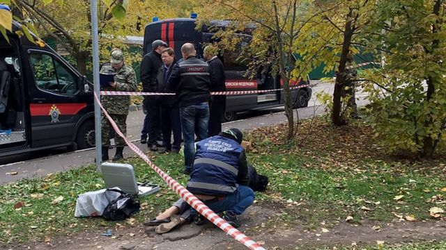 Полиция на месте убийства Евгении Шишкиной