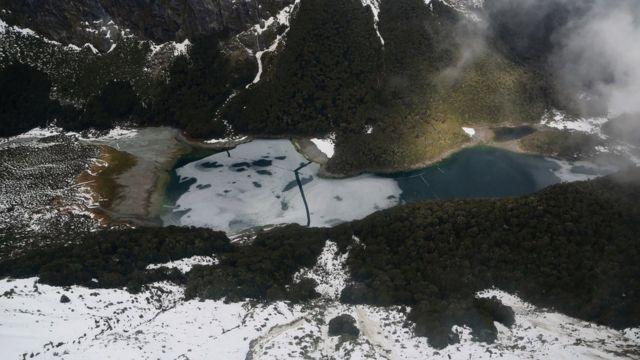 Фотография района, где полииця обнаружила тело погибшего путешественника