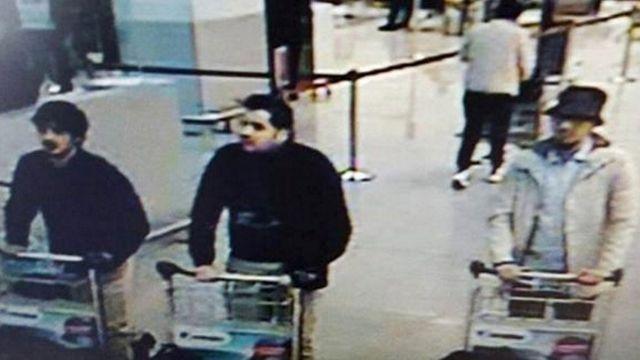ザベンテム空港の防犯カメラが撮影した容疑者たち。