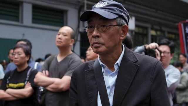 早前曾被中国大陆当局扣押的香港书商林荣基也有参加反对修订《逃犯条例》的游行。