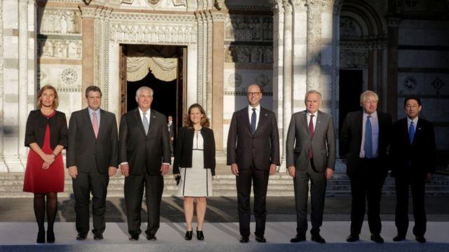 وزرای خارجه گروه هفت و اتحادیه اروپا در لوکا