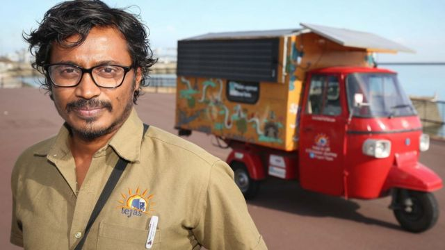 Solar tuk-tuk arrives in UK after road trip from India