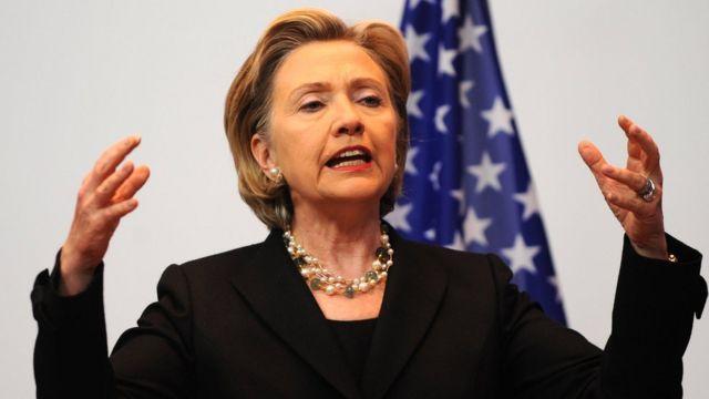 Hillary Clinton, cuando era secretaria de Estado