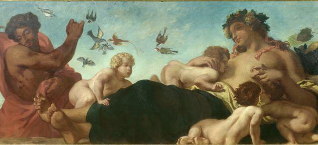 法國浪漫主義畫家德拉克羅瓦(生於1798年卒於1863年)的畫作。