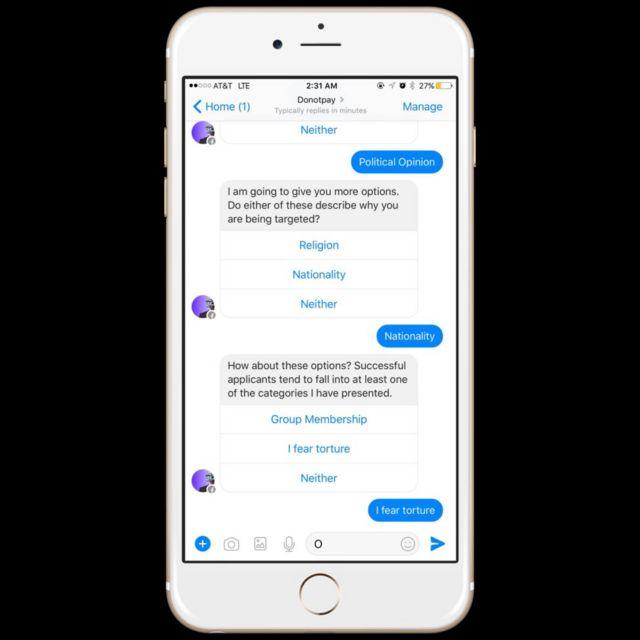 Chatbot ya mawasiliano ya ''Wakili roboti''