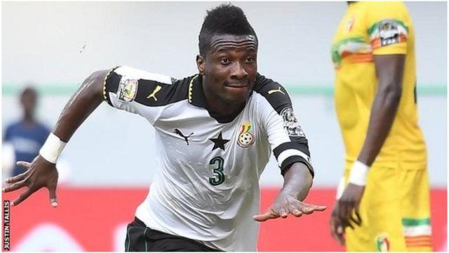 Asamoah Gyan, le capitaine du Ghana, lors du match contre le Mali
