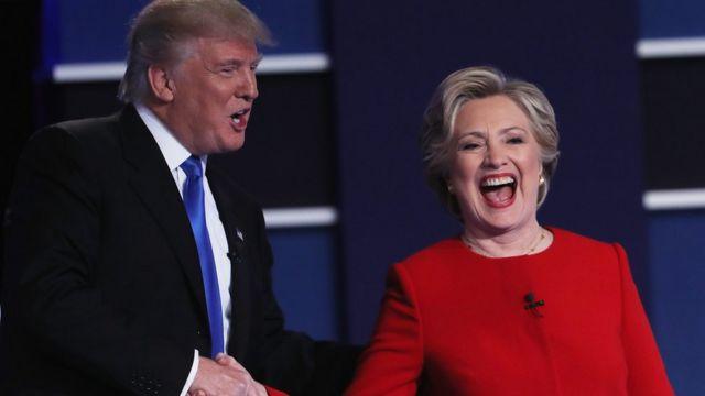 هیلاری کلینتون و دونالد ترامپ