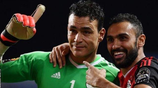 Essam El Hadary, le doyen (44 ans) des joueurs de la CAN 2017, a arrêté deux tirs des Etalons.