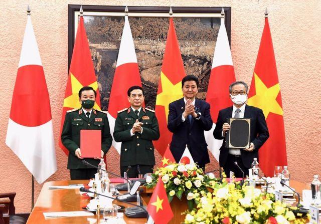 Hai bên vào ngày 11/9 đã ký một thỏa thuận cho phép xuất khẩu thiết bị và công nghệ quốc phòng do Nhật Bản sản xuất