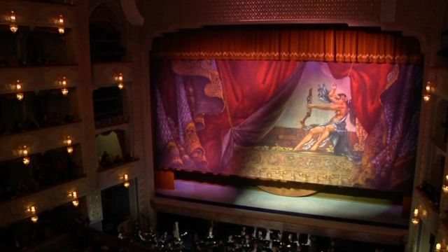 The stage at the opera house in Tbilisi, Georgia.