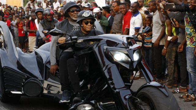 Calabar Carnival biker's parade