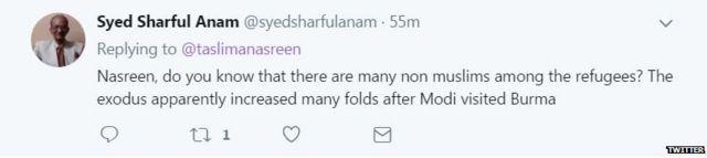 तस्लीमा नसरीन, बांग्लादेश, रोहिंग्या, म्यांमार, हिंदू, बौद्ध, मुस्लिम
