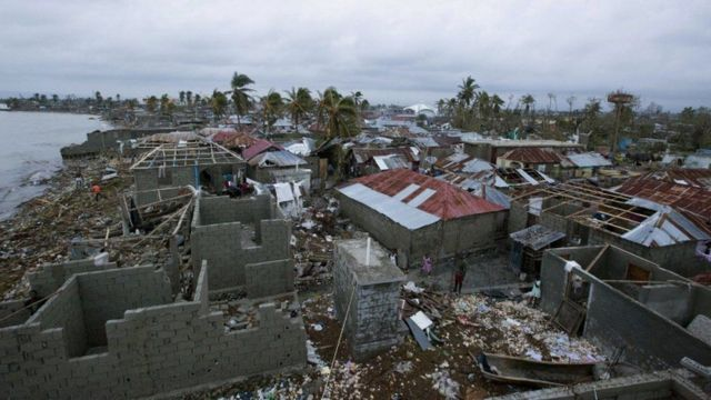 हेती में मैथ्यू तूफ़ान से भारी नुकसान