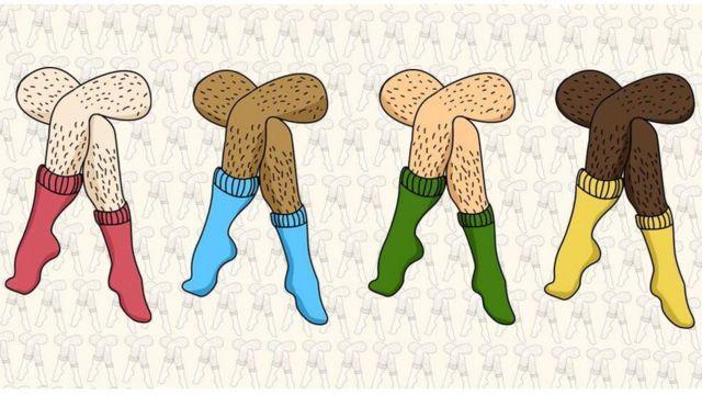 Ilustración de piernas peludas.