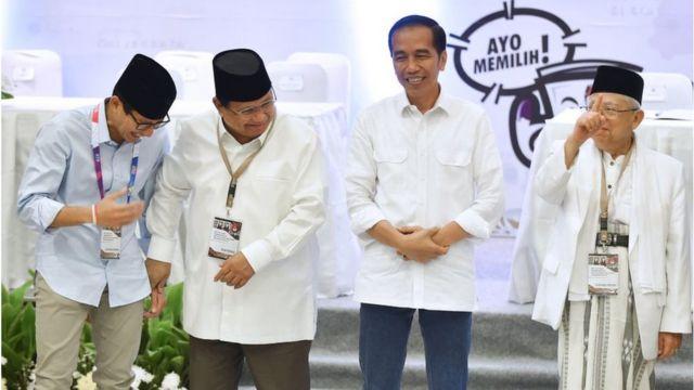 Sandiaga Prabowo Jokowi Maruf Amin