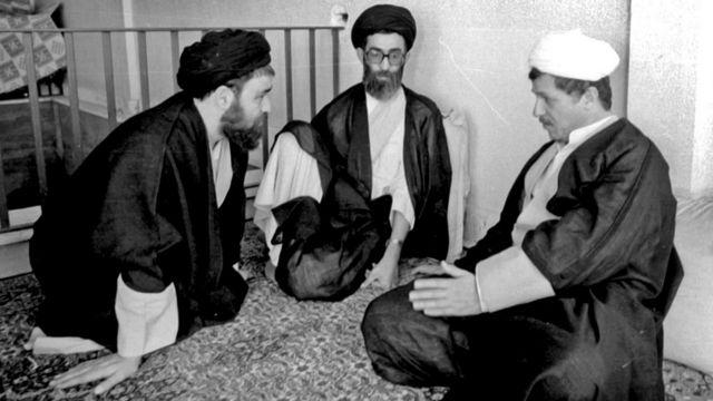 هاشمی رفسنجانی و خامنهای و احمد خمینی