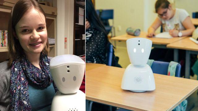 Zoe Johnson y su AV1 robot