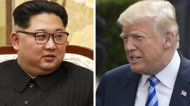 Composite photo of Kim Jong-un and Donald Trump