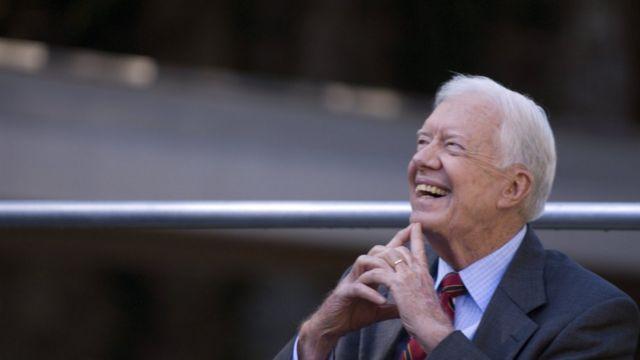 Jimmy Carter, de 95 anos, que saiu da Presidência dos Estados Unidos em 1981, aos 56 anos