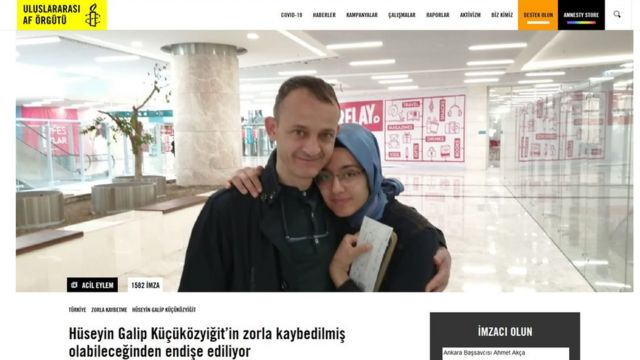 Uluslararası Af Örgütü, Galip Küçüközyiğit'in durumunun ortaya çıkarılması talebiyle bir imza kampanyası başlattı.