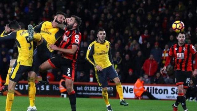 Giroud ne kanwa uwar-gami a dukkanin kwallayen da Arsenal ta ci Bournemouth