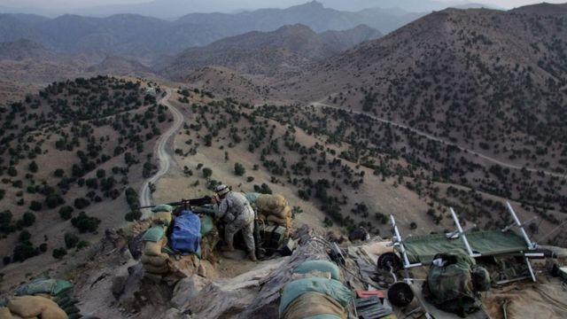 Montañas de Afganistán, cerca de la frontera con Pakistán.