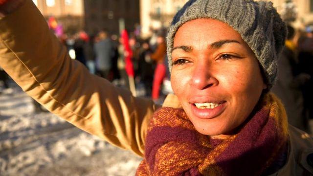 Tess Asplund, 42 ans, militante