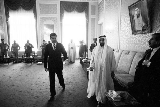 دیدار صدام و شیخ زاید، حاکم وقت ابوظبی