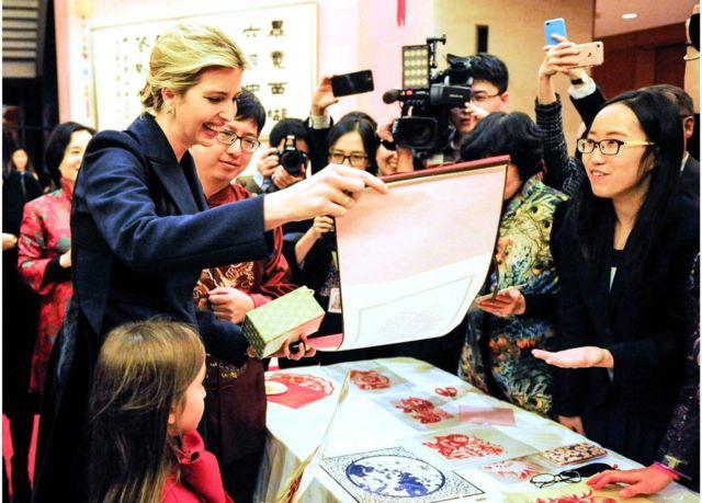 伊萬卡·特朗普在2月1日出席中國駐華盛頓大使館的春節活動