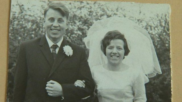 Eileen Johnston and her first husband who was murdered by the IRA