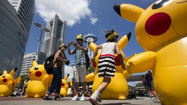 Muñecos inflables en Japón