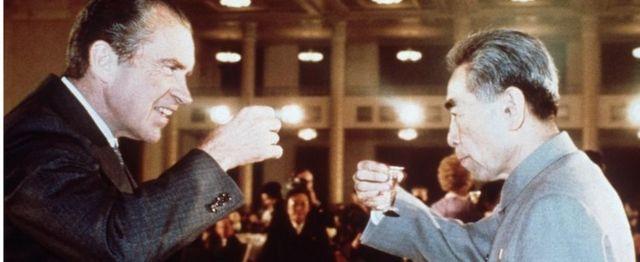 ABD Başkanı Richard Nixon ve Çin Başbakan Şubat 1972'de Peking'de
