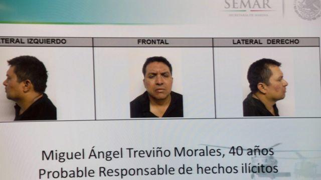 Fotos tras el arresto de Miguel Ángel Treviño Morales, en julio de 2013
