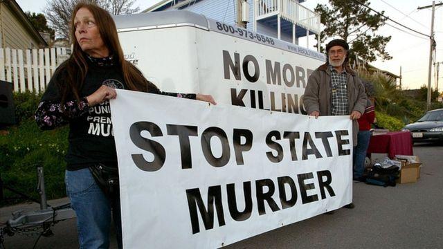 Protesta contra la pena de muerte