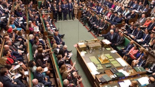 Plenário do Parlamento britânico