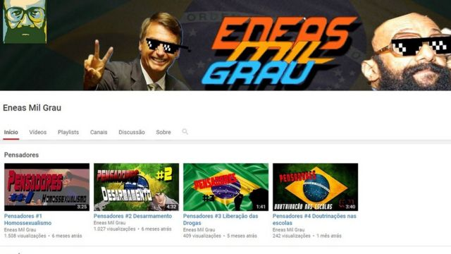 Página Eneas Mil Grau no YouTube