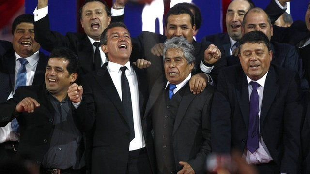 Antonio Banderas e mineiros