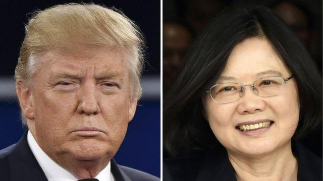 ट्रंप और ताइवान की राष्ट्रपति