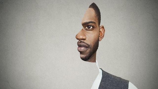 Retrato surrealista de um homem