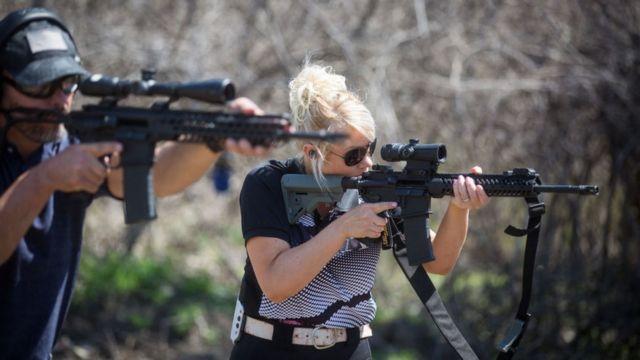 Американцы на стрельбище