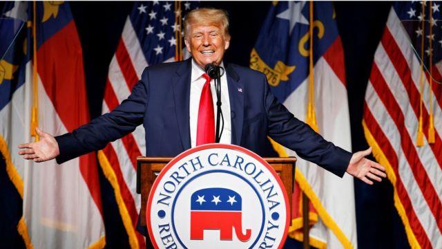 Дональд Трамп выступил на республиканской конференции в Северной Каролине