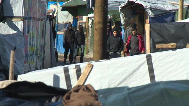 Calais migrant camp known as the Jungle